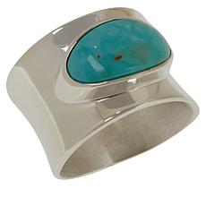 Jay King Sterling Silver Campitos Turquoise Band Ring