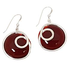 Jay King Sterling Silver Carnelian Drop Earrings