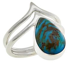 Jay King Sterling Silver Ceremonial Turquoise Pear-Shaped Ring