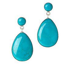 Jay King Sterling Silver Chilean Turquoise Drop Earrings