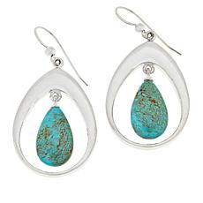 Jay King Sterling Silver Chilean Turquoise Pear Drop Earrings