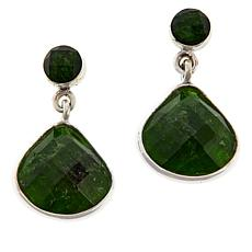 Jay King Sterling Silver Chrome Diopside Drop Earrings