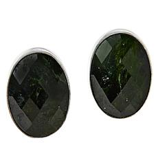 Jay King Sterling Silver Chrome Diopside Oval-Cut Earrings