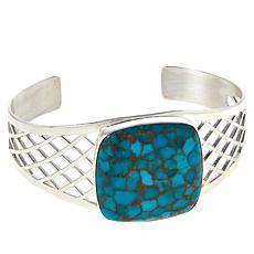 Jay King Sterling Silver Cushion-Cut Gemstone Cuff Bracelet