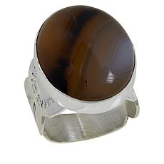 Jay King Sterling Silver Dendriband Agate Ring