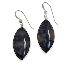 Jay King Sterling Silver Dendritic Sage Drop Earrings