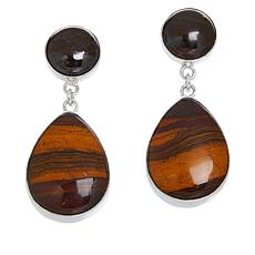 Jay King Sterling Silver Desert Sunset Stone Pear Drop Earrings