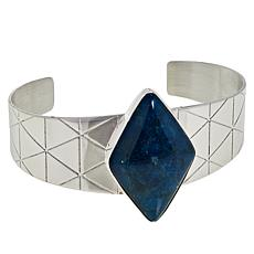 Jay King Sterling Silver Diamond-Shaped Blue Apatite Cuff Bracelet