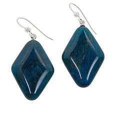 Jay King Sterling Silver Diamond-Shaped Blue Apatite Drop Earrings