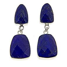Jay King Sterling Silver Faceted Lapis Drop Earrings