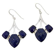 Jay King Sterling Silver Faceted Lapis Multi-Stone Earrings