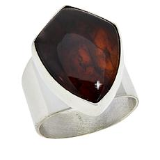 Jay King Sterling Silver Freeform Amber Ring