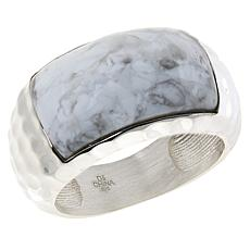 Jay King Sterling Silver Gemstone Hammered Ring