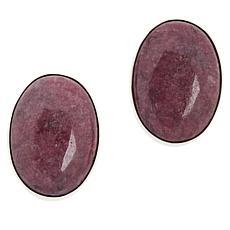 Jay King Sterling Silver Gemstone Oval Earrings