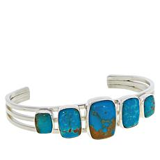 Jay King Sterling Silver Gold-Color Matrix Turquoise Cuff Bracelet