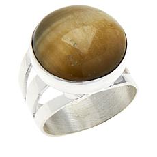 Jay King Sterling Silver Golden Cat's Eye Quartz Round Ring