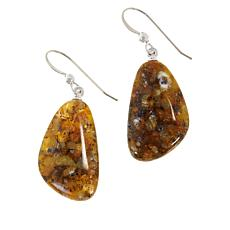 Jay King Sterling Silver Golden Jelly Opal Drop Earrings
