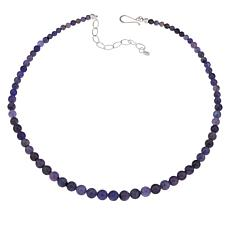 Jay King Sterling Silver Graduated Blue Tanzanite Bead Necklace