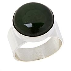 Jay King Sterling Silver Green Nephrite Jade Round Ring