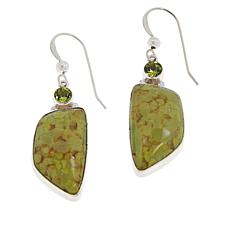 Jay King Sterling Silver Green Opal and Peridot Earrings