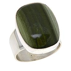 Jay King Sterling Silver Green Polychrome Serpentine Ring