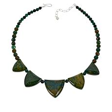 Jay King Sterling Silver Green Verdite Necklace