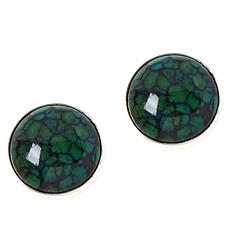 Jay King Sterling Silver Hubei Turquoise Round Stud Earrings