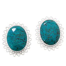 Jay King Sterling Silver Hubei Turquoise Stud Earrings