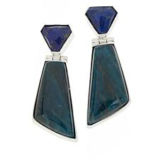 Jay King Sterling Silver Indigo Blue Apatite and Lapis Earrings