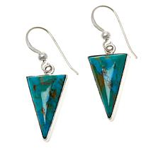 Jay King Sterling Silver Kingman Turquoise Triangular Drop Earrings