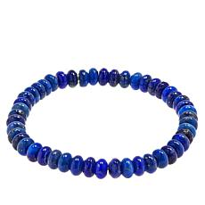 Jay King Sterling Silver Lapis Bead Stretch Bracelet