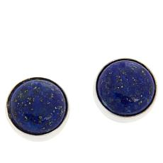 Jay King Sterling Silver Lapis Button Earrings