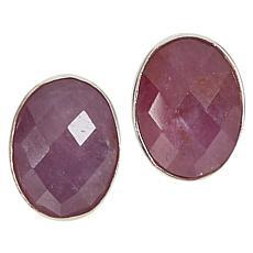 Jay King Sterling Silver Lilac Sapphire Stud Earrings