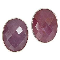Jay King Sterling Silver Lilac Sapphire Stud Earrings
