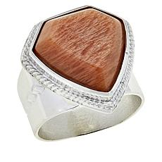 Jay King Sterling Silver Madagascar Peach Stone Ring