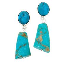 Jay King Sterling Silver Maidenhair Turquoise Earrings