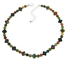 Jay King Sterling Silver Multi-Color Chalcedony Bead Necklace