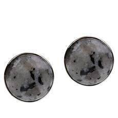 Jay King Sterling Silver Multi-Color Pitaya Stone Stud Earrings