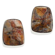 Jay King Sterling Silver Multi-Color Shitake Stone Earrings