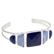 Jay King Sterling Silver Multi-Gemstone Cuff Bracelet