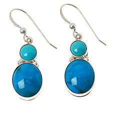 Jay King Sterling Silver Multi-Turquoise Drop Earrings
