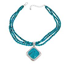 Jay King Sterling Silver Multi-Turquoise Pendant with Necklace