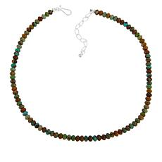 Jay King Sterling Silver Nevada Boulder Turquoise Bead Necklace
