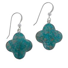 Jay King Sterling Silver No. 7 Yellow Turquoise Drop Earrings