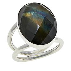 Jay King Sterling Silver Oval Labradorite Ring