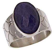 Jay King Sterling Silver Oval Tanzanite Ring