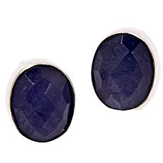 Jay King Sterling Silver Oval Tanzanite Stud Earrings