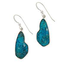 Jay King Sterling Silver Parrot Wing Stone Drop Earrings