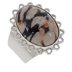 Jay King Sterling Silver Peanut Wood Ring