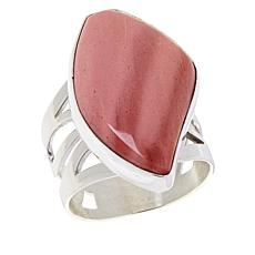 Jay King Sterling Silver Pink Opal Freeform Ring